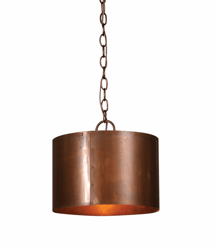Round Copper Drum