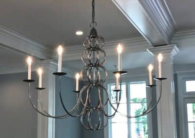 custom steel chandelier